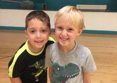 Two boys smiling at Haygood Skating Center