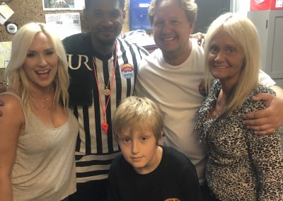 Stokes family with Usher at Haygood Skating Center